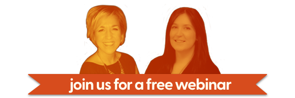 Headshot of the webinar speakers, Donna and Louise with a banner saying 'Join us for a free webinar'