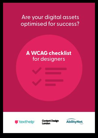 WCAG Checklist for designers
