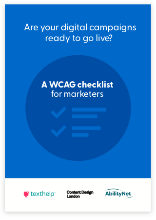 WCAG Checklist for marketers