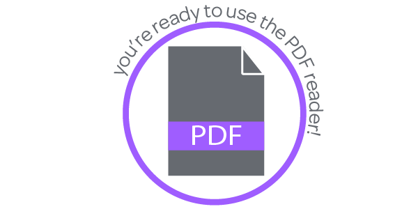 You're ready to use PDF reader